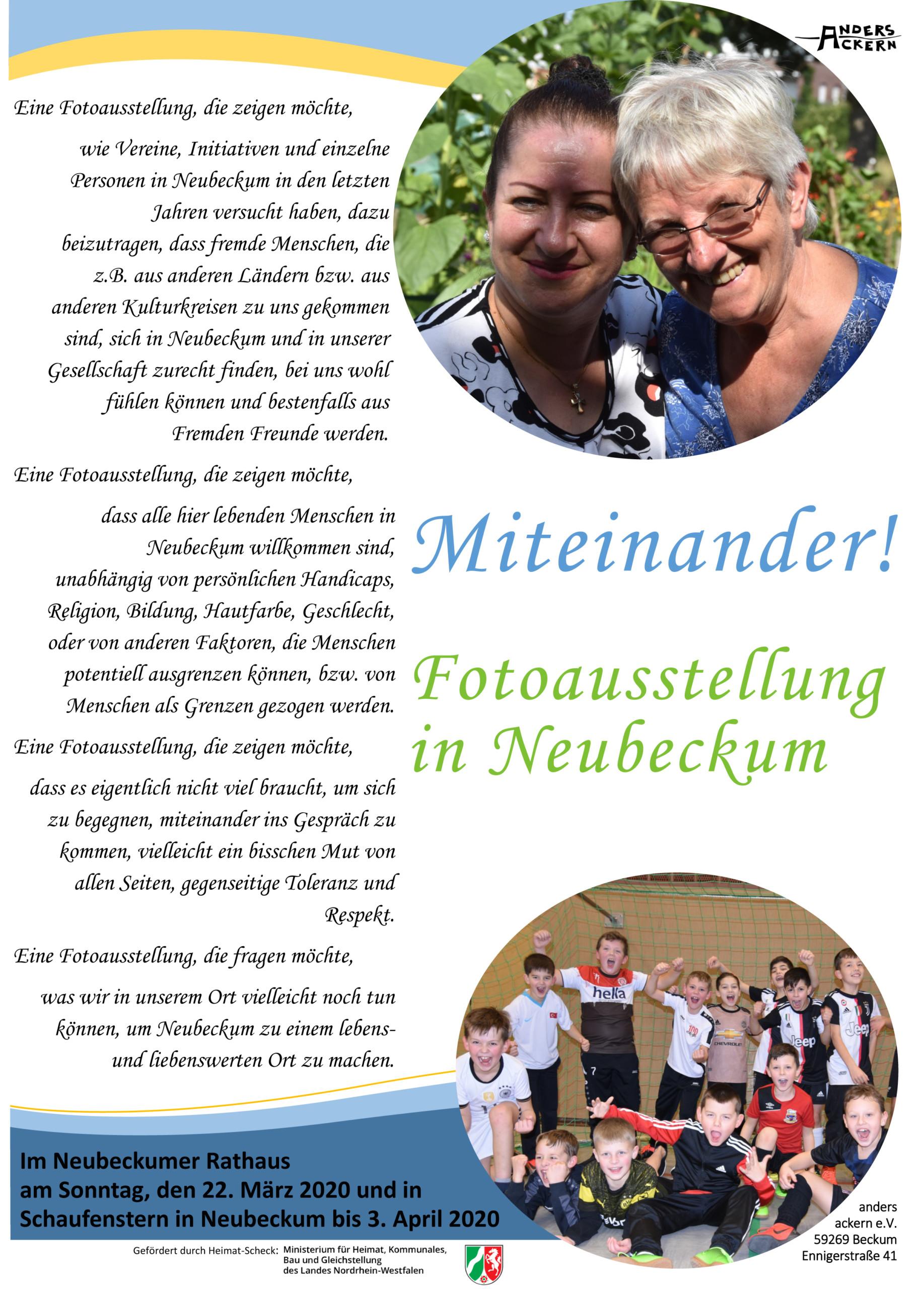 """Fotoausstellung """"Miteinander!"""""""